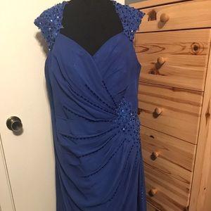 JJ'S HOUSE Sequined blue maxi dress